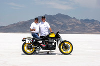 Triumph Thunderbird Storm at the Bonneville Salt Flats with Alan Cathcart and Matt Capri