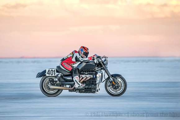 Jason DiSalvo Rides the Rocket 3 on the Bonneville Salt Flats